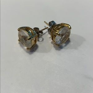 Kate Spade Stud Earrings with Clear Stone